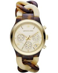 Michael Kors Ladies Tortoise Horn Watch - Lyst