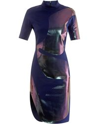Dion Lee Thermal Linear Print Dress - Lyst