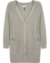 Twenty8Twelve Stripe Knitted Cardigan - Gray