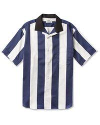 Acne Studios Oahu Striped Short Sleeved Cotton Shirt - Lyst