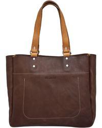 Ally Capellino Brown Marjorie Conservative Tote Bag