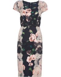 Dolce & Gabbana Printed Dress black - Lyst