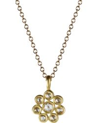 Me&Ro - Small Indian Diamond Flower Pendant Necklace - Lyst