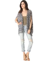 Winter Kate Fortune Bed Jacket - Grey