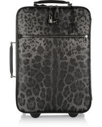 Dolce & Gabbana Leathertrimmed Printed Scotch Grain Suitcase - Black