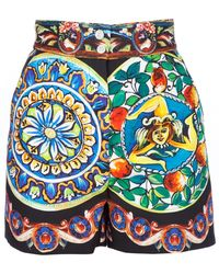 Dolce & Gabbana Printed Shorts - Lyst