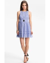 Free People Rocco Cutout Lace Dress - Lyst