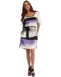 Paul Smith Shadow Print Knitted Dress - Lyst