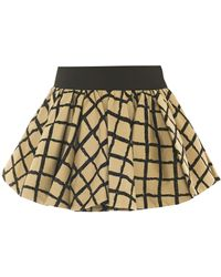 Rag & Bone Daisy Check Mini Skirt beige - Lyst