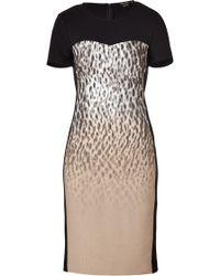 DKNY Black-Multi Paneled Sheath Dress - Lyst