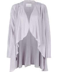 Lounge Lover Happy Hooded Wrap In Lilac Grey - Lyst