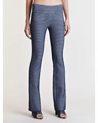 Lucas Nascimento Tech Lace Skinny Flare Pants - Blue