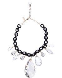 Nina Ricci - Chunky Crystal Necklace - Lyst