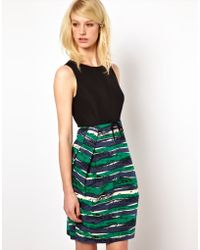 Orla Kiely - Sleeveless Dress in Seaview Print Ottoman - Lyst