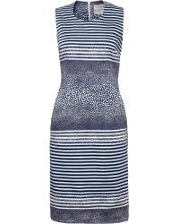 Preen Stingray Stripe Ava Pencil Dress - Lyst