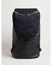 Tim Coppens Mens Leather Backpack - Black