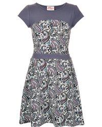 Topshop Colour Block Dress blue - Lyst