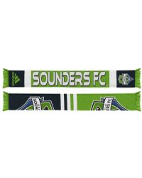 adidas Seattle Sounders Team Jacquard Pattern Soccer Scarf - Green