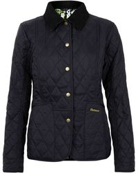 Barbour - Navy Printed Summer Liddesdale Quilted Jacket - Lyst