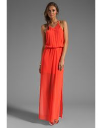 Rory Beca Gemma Tback Gown in Coral red - Lyst