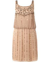 Untold Beaded Pattern Sleeveless Dress pink - Lyst