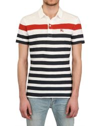 Burberry Brit Cotton Jersey Printed Polo Shirt - Lyst