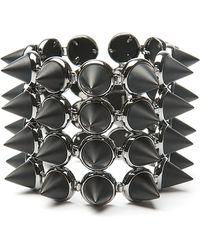 Eddie Borgo | Four Layer Gemstone Cone Bracelet | Lyst
