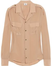 Iris & Ink The Military Silk Shirt - Lyst