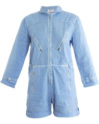 M.i.h Jeans Chambray Jumpsuit - Blue