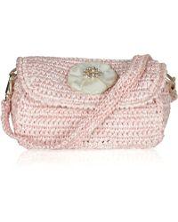 Ralph Lauren Collection - Mother Of Pearl Flower Raffia Clutch - Lyst