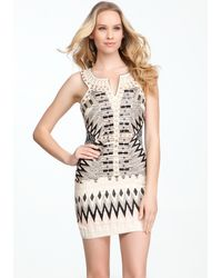 Bebe Tribal Beaded Dress - Lyst