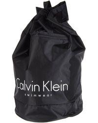 Calvin Klein Black Backpacks - Lyst