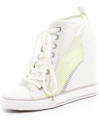 DKNY - Grommet Wedge Trainers - Lyst