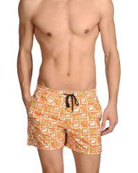 Incotex Swimming Trunks - Orange