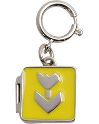Jil Sander Navy Key Rings - Yellow