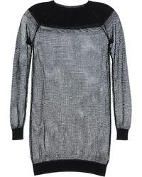 MM6 by Maison Martin Margiela Long Sleeve Sweater - Gray