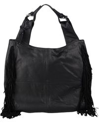 Le Solim Large Leather Bags - Black