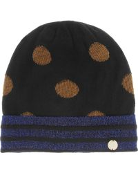 Marc By Marc Jacobs - Clara Metallicflecked Knitted Beanie - Lyst