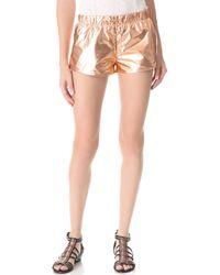 Nanushka - Puno Metallic Shorts - Lyst