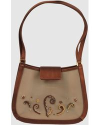 Rene Caovilla Medium Fabric Bag - Brown