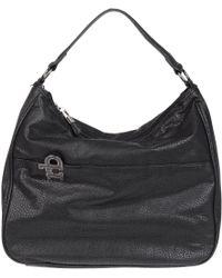 Roccobarocco Large Fabric Bags - Black