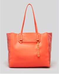 Sam Edelman Orange Tote Giselle - Lyst
