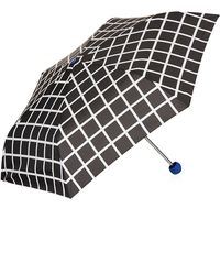 TOPSHOP Arthaus Check Umbrella - Blue