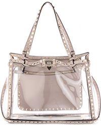Valentino Naked Rockstud Handbag - Lyst