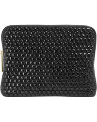 3.1 Phillip Lim Black 31 Minute Quilted Bubble Leather Pouch - Lyst