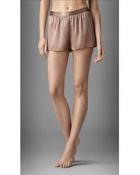 Burberry - Stretch-Silk Night Shorts - Lyst