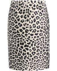 Marc Jacobs Satin Leopardprint Pencil Skirt - Multicolour