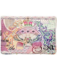 Mary Katrantzou Sterling Printed Leather Large Pouch - Multicolor