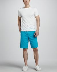 Splendid - Cotton Shorts Turquoise - Lyst