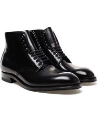Alden Leather Lace-Up Cordovan Boots - Lyst